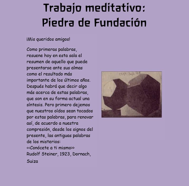 trabajo meditativo piedra de fundación